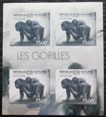 Poštovní známky Burundi 2012 Gorila západní neperf. Mi# 2852 B Bogen