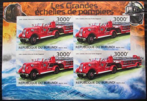 Poštovní známky Burundi 2012 Hasièská auta neperf. Mi# 2901 B Bogen