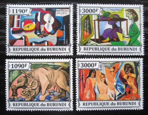 Poštovní známky Burundi 2013 Umìní, Pablo Picasso Mi# 3313-16 Kat 10€