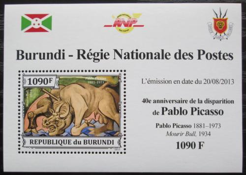 Poštovní známka Burundi 2013 Umìní, Pablo Picasso DELUXE Mi# 3313 Block