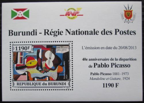 Poštovní známka Burundi 2013 Umìní, Pablo Picasso DELUXE Mi# 3314 Block