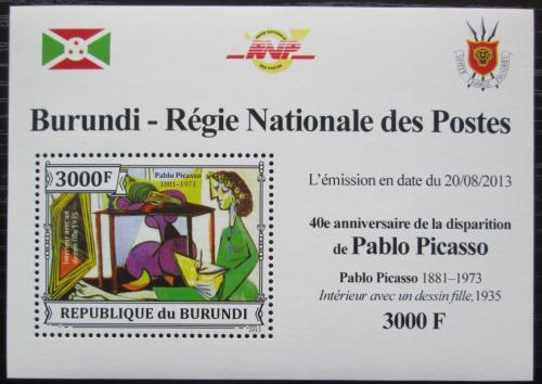 Poštovní známka Burundi 2013 Umìní, Pablo Picasso DELUXE Mi# 3315 Block