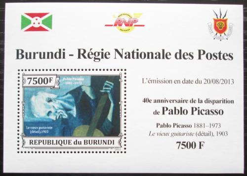 Poštovní známka Burundi 2013 Umìní, Pablo Picasso DELUXE Mi# 3317 Block
