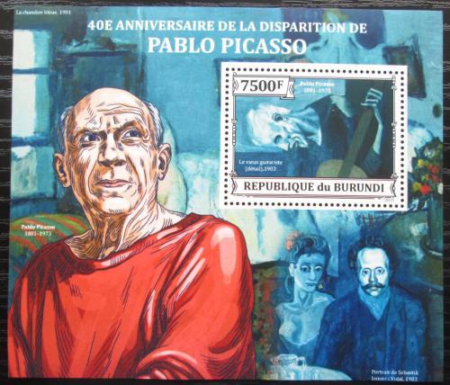 Poštovní známka Burundi 2013 Umìní, Pablo Picasso Mi# Mi# Block 387 Kat 9€