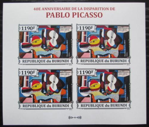 Poštovní známky Burundi 2013 Umìní, Pablo Picasso neperf. Mi# 3314 B Bogen