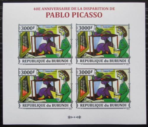 Poštovní známky Burundi 2013 Umìní, Pablo Picasso neperf. Mi# 3315 B Bogen