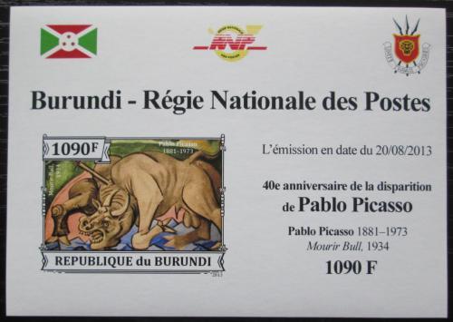 Poštovní známka Burundi 2013 Umìní, Pablo Picasso neperf. Mi# 3313 B Block