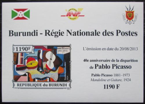 Poštovní známka Burundi 2013 Umìní, Pablo Picasso neperf. Mi# 3314 B Block
