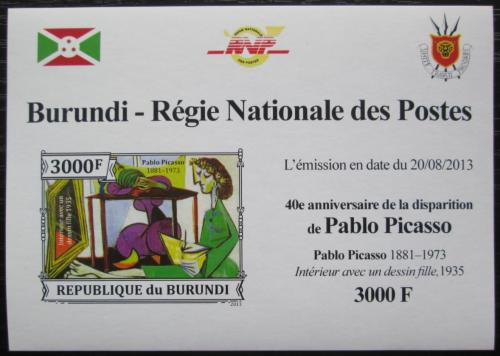 Poštovní známka Burundi 2013 Umìní, Pablo Picasso neperf. Mi# 3315 B Block