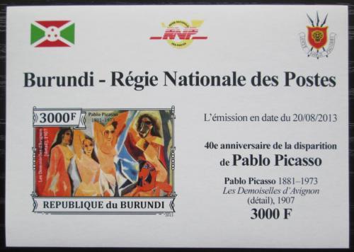 Poštovní známka Burundi 2013 Umìní, Pablo Picasso neperf. Mi# 3316 B Block