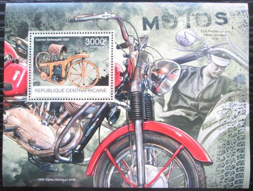 Poštovní známka SAR 2012 Historické motocykly Mi# Block 981 Kat 14€