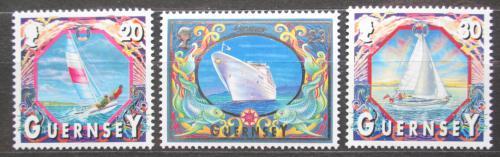 Poštovní známky Guernsey 2000 Lodì Mi# 855-57 Kat 12€