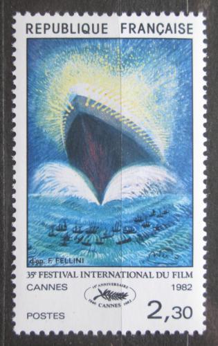 Poštovní známka Francie 1982 Plakát s lodí Mi# 2334