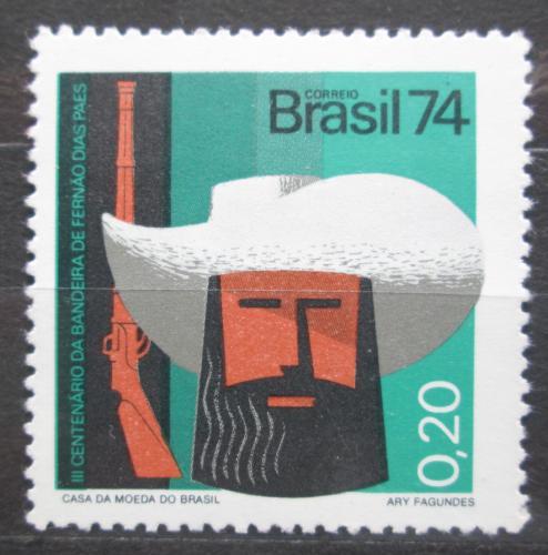 Poštovní známka Brazílie 1974 Fernão Dias Paes Mi# 1443