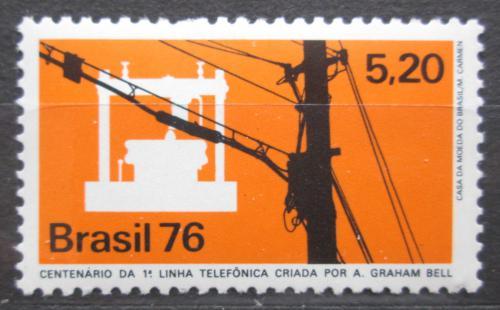 Poštovní známka Brazílie 1976 Telefon, 100. výroèí Mi# 1523