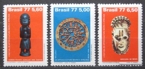Poštovní známky Brazílie 1977 Festival afrického umìní Mi# 1578-80 Kat 4.50€
