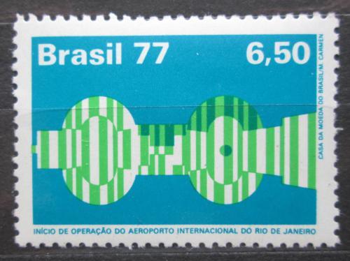 Poštovní známka Brazílie 1977 Otevøení letištì v Galeão Mi# 1581