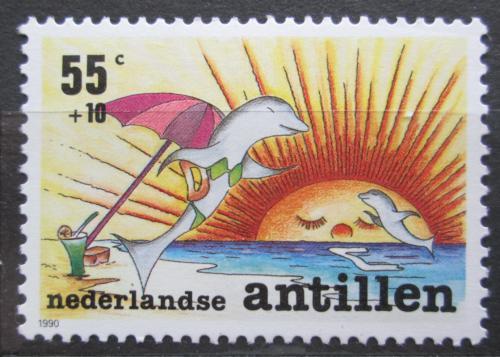 Poštovní známka Nizozemské Antily 1990 Delfín Mi# 701