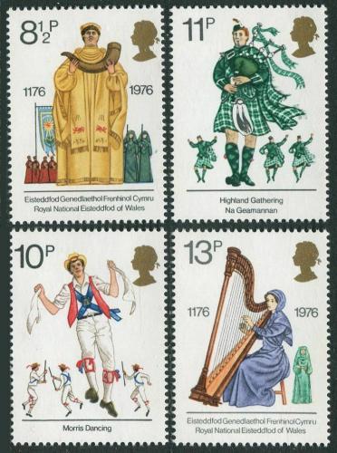 Poštovní známky Velká Británie 1976 Kulturní tradice Mi# 715-18