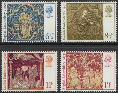 Poštovní známky Velká Británie 1976 Vánoce Mi# 723-26