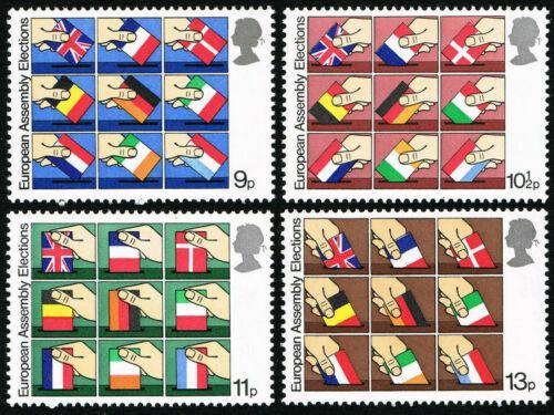 Poštovní známky Velká Británie 1979 Volby do Evropského parlamentu Mi# 789-92