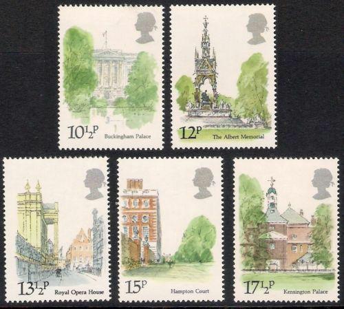 Poštovní známky Velká Británie 1980 Zajímavosti z Londýna Mi# 836-40