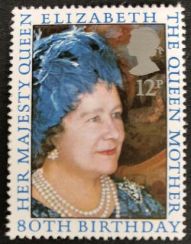 Poštovní známka Velká Británie 1980 Královna Matka Mi# 845
