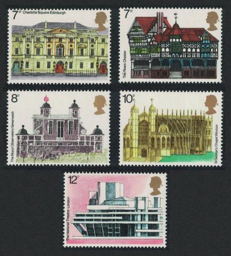 Poštovní známky Velká Británie 1975 Architektura Mi# 673-77