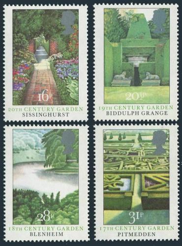 Poštovní známky Velká Británie 1983 Zahrady Mi# 962-65