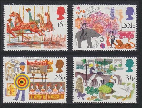 Poštovní známky Velká Británie 1983 Londýnský jarmark Mi# 966-69