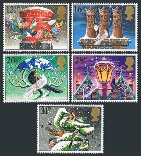 Poštovní známky Velká Británie 1983 Vánoce Mi# 970-74