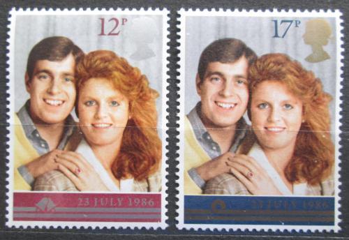 Poštovní známky Velká Británie 1986 Královská svatba Mi# 1081-82