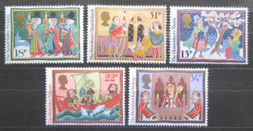 Poštovní známky Velká Británie 1986 Vánoce Mi# 1091-95