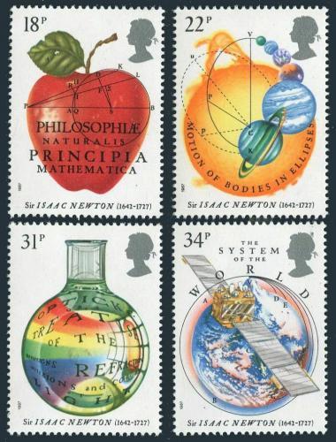 Poštovní známky Velká Británie 1987 Philosophiae Naturalis Principia Mi# 1101-04