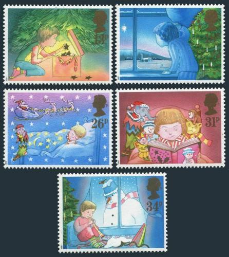 Poštovní známky Velká Británie 1987 Vánoce Mi# 1126-30