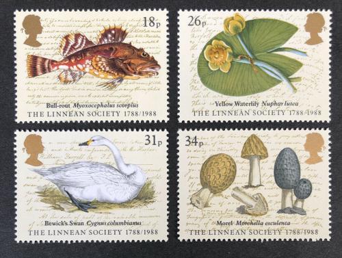 Poštovní známky Velká Británie 1988 Fauna a flóra Mi# 1131-34