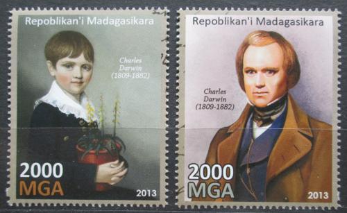 Poštovní známky Madagaskar 2013 Charles Darwin Mi# N/N
