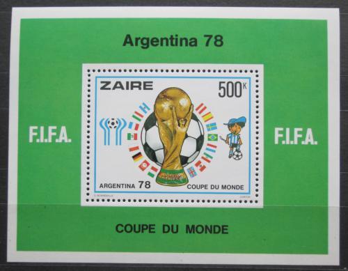 Poštovní známka Zair 1978 MS ve fotbale Mi# Block 18 Kat 25€