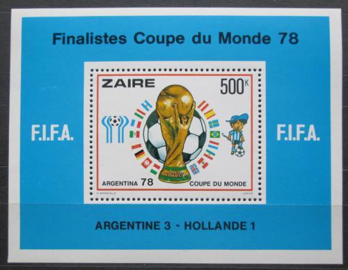 Poštovní známka Zair 1978 MS ve fotbale Mi# Block 19 Kat 25€