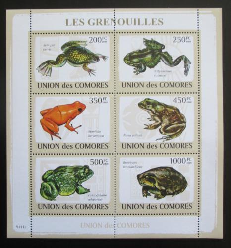 Poštovní známky Komory 2009 Žáby Mi# 2163-68 Kat 14€