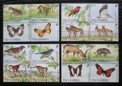Poštovní známky Gambie 1991 Africká fauna Mi# 1145-60 Kat 40€
