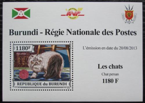 Poštovní známka Burundi 2013 Koèka perská DELUXE Mi# 3249 Block