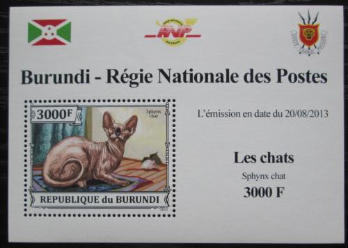 Poštovní známka Burundi 2013 Sphynx DELUXE Mi# 3250 Block