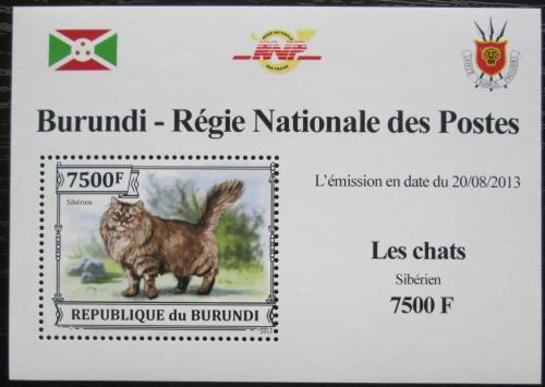 Poštovní známka Burundi 2013 Sibiøská koèka DELUXE Mi# 3252 Block
