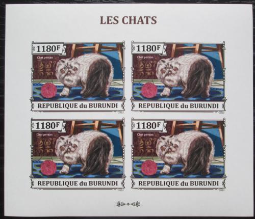 Poštovní známky Burundi 2013 Koèka perská neperf. Mi# 3249 B Bogen