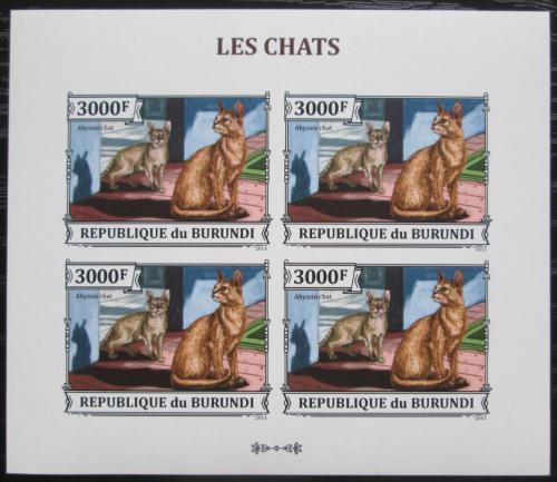 Poštovní známky Burundi 2013 Habešská koèka neperf. Mi# 3251 B Bogen