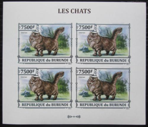 Poštovní známky Burundi 2013 Sibiøská koèka neperf. Mi# 3252 B Bogen