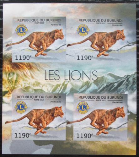 Poštovní známky Burundi 2012 Lev neperf. Mi# 2829 B Bogen
