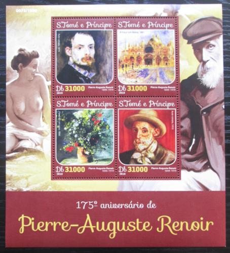 Poštovní známky Svatý Tomáš 2016 Umìní, Pierre-Auguste Renoir Mi# 6521-24 Kat 12€