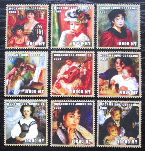 Poštovní známky Mosambik 2001 Umìní, Renoir Mi# 2070-78 Kat 11.50€